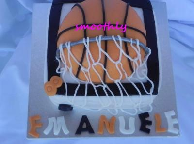 per un bimbo appassionato di basket , torta by smoothly