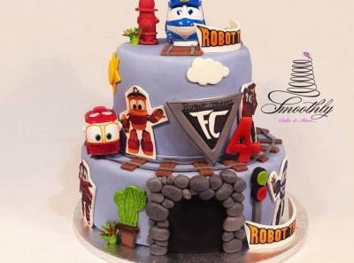 robot train cake by smoothly
